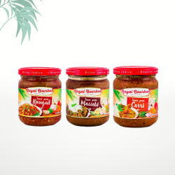 Assortiment de 3 sauces réunionnaises (3x200g) Royal Bourbon