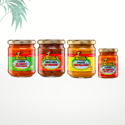 Assortiment de 3 sauces piquantes Dame Besson